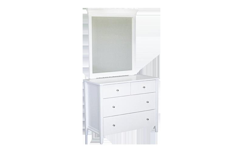 Adventure 4 Drawer Dresser with Mirror