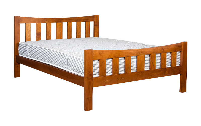 Delta Slatted Bed Frame – High Foot