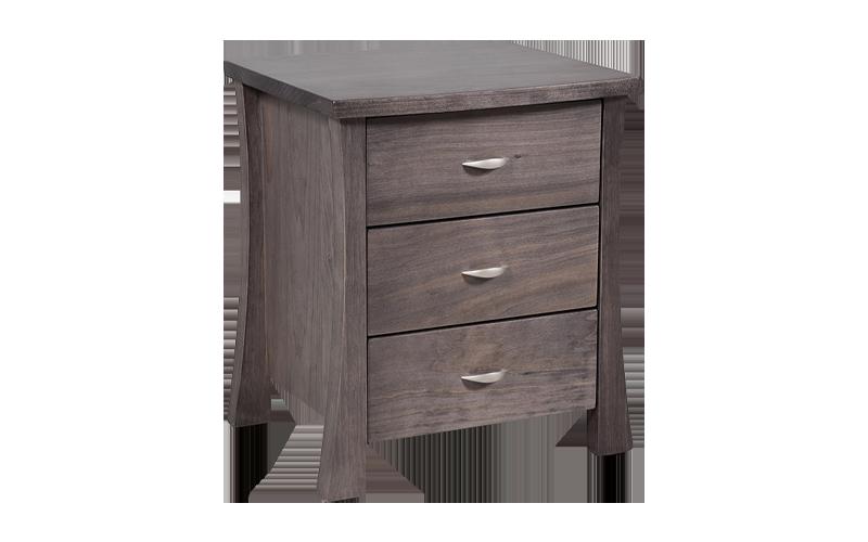 Hudson 3 Drawer Bedside Table